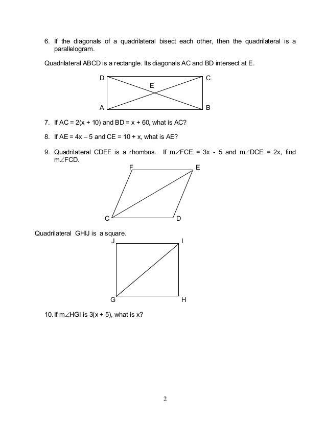 Module 2 properties of quadrilaterals 2 ccuart Gallery
