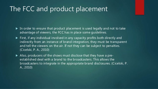 The Ethics of Product Placement