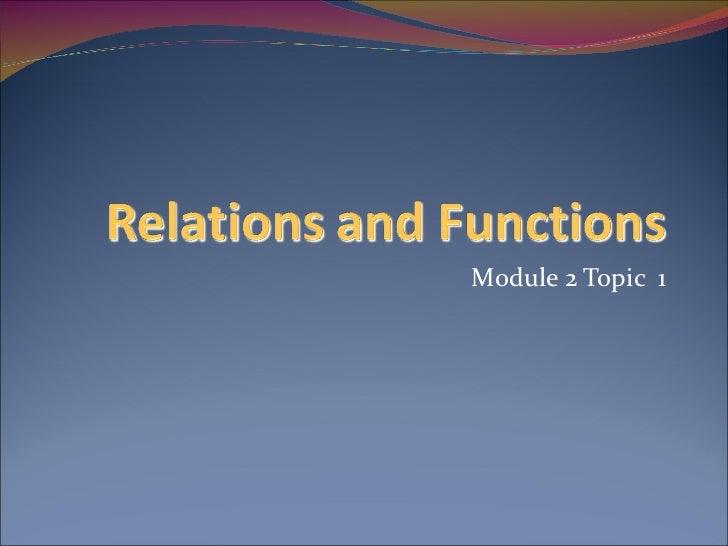Module 2 Topic  1