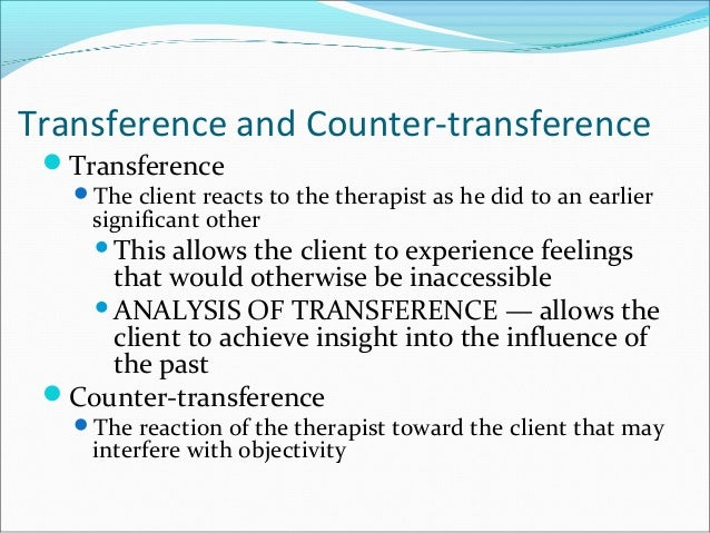 Transference and Counter-Transference Essay