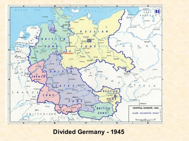 divided germany map module 3 germany divided