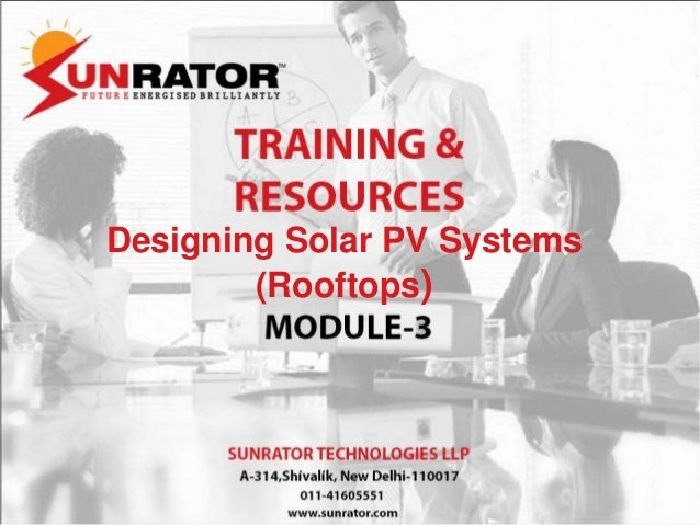 Designing Solar PV Systems (Rooftops)