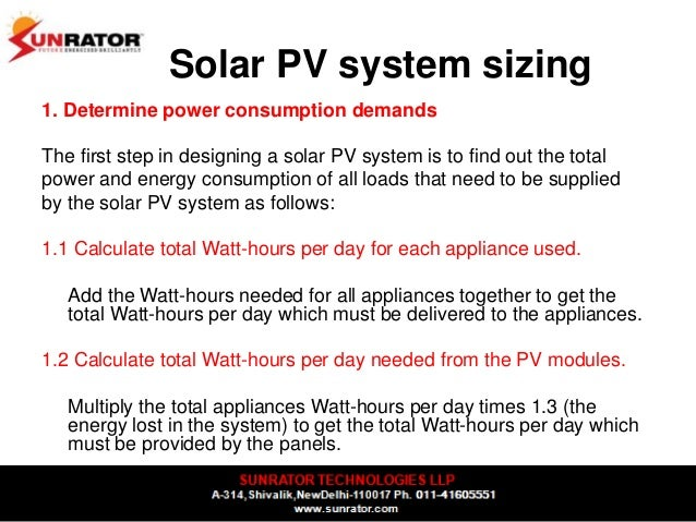 Designing Solar Pv Systems Rooftops