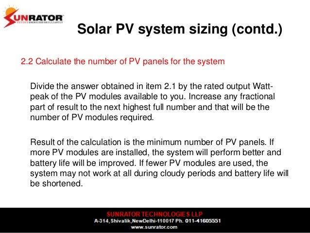 solar system output calculator - photo #21