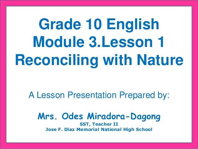 english grade 6 lesson 1