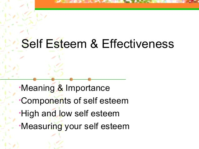 an introduction to the importance of self esteem Self-esteem is a major key to success in life the development of a positive self-concept or healthy self-esteem is extremely important to the happiness and success of children and teenagers.