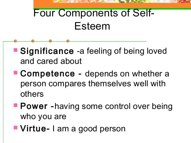 relationship between self esteem and efficacy survey