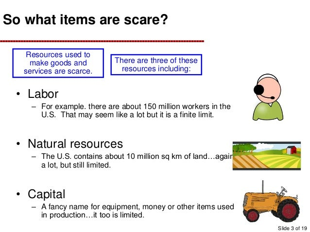 Scarce Natural Resources Examples