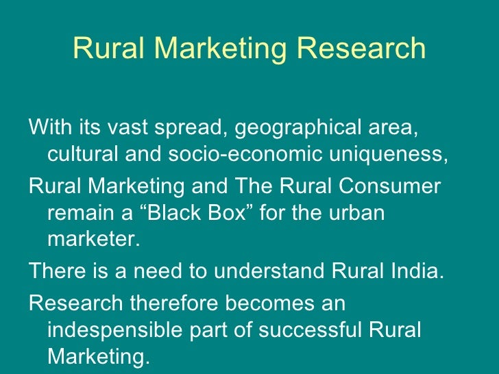 objectives of study of demand of consumer durables in rural market The consumer durables market in india was estimated to and refrigerators are shifting to the semi-urban and rural areas increased consumer demand is expected to boost the.