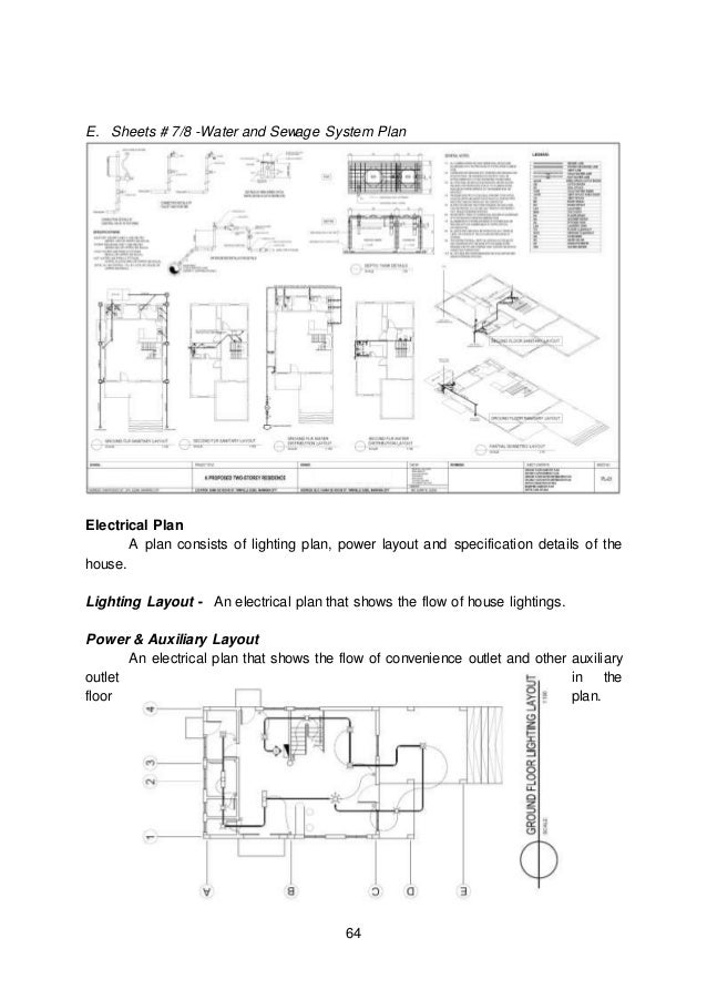 House lighting layout plan
