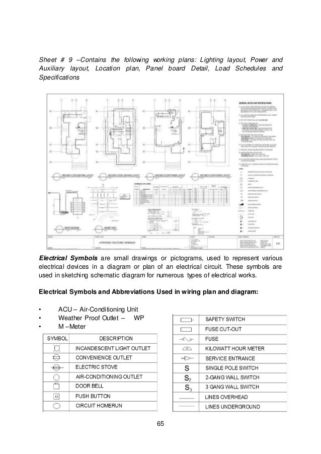 Residential Electrical Plan General Notes Wiring Schematic Diagram