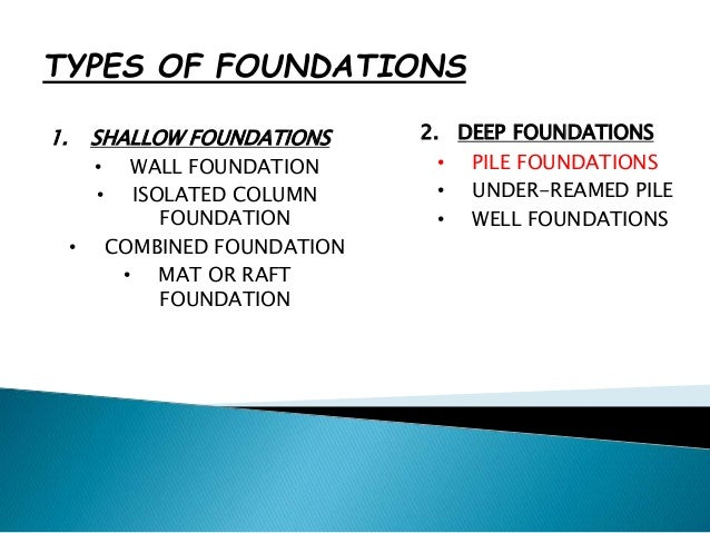 Module 3 pile types and construction for Foundations types