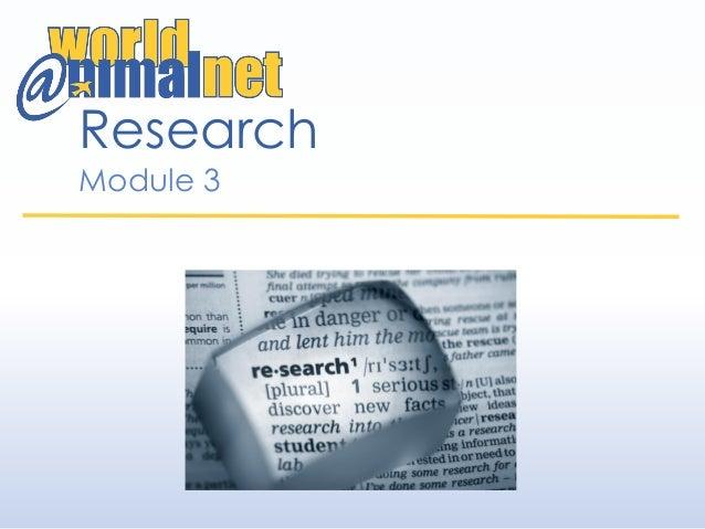 Research Module 3
