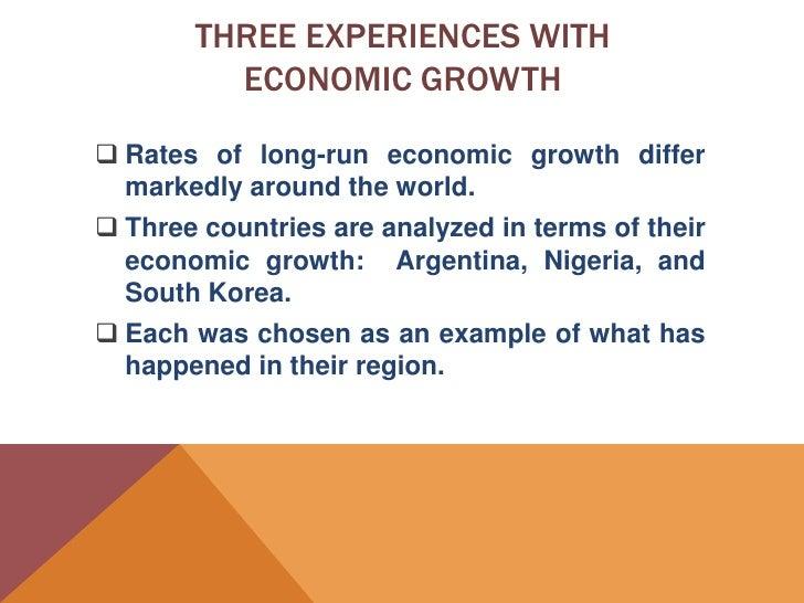 Three essays on growth and the world economy