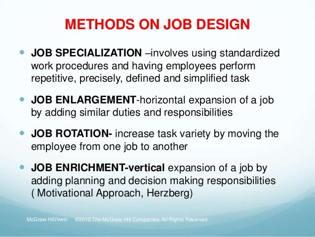 job design and redesign