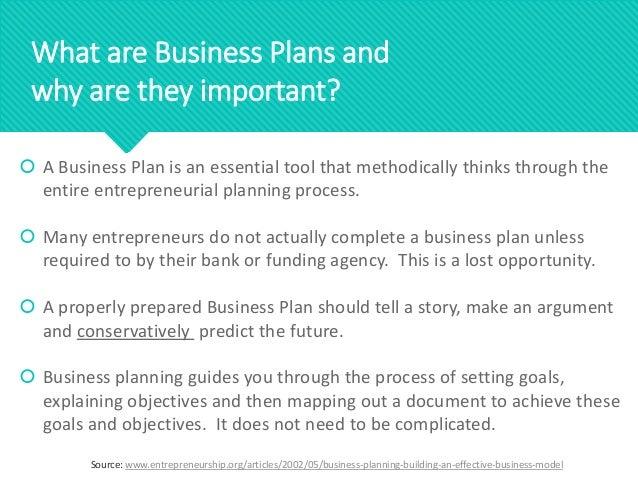 importance of business plan pdf