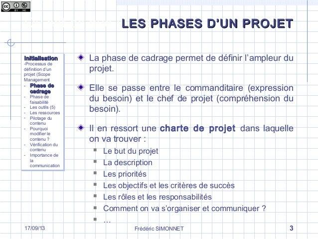 les diff rentes phases d un projet la phase d initialisation