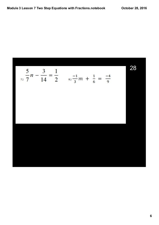 how to solve two step equations with fractions