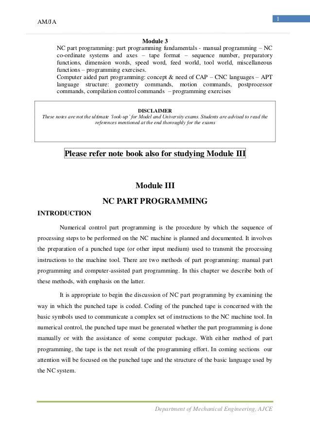 NC part programing & Robotics