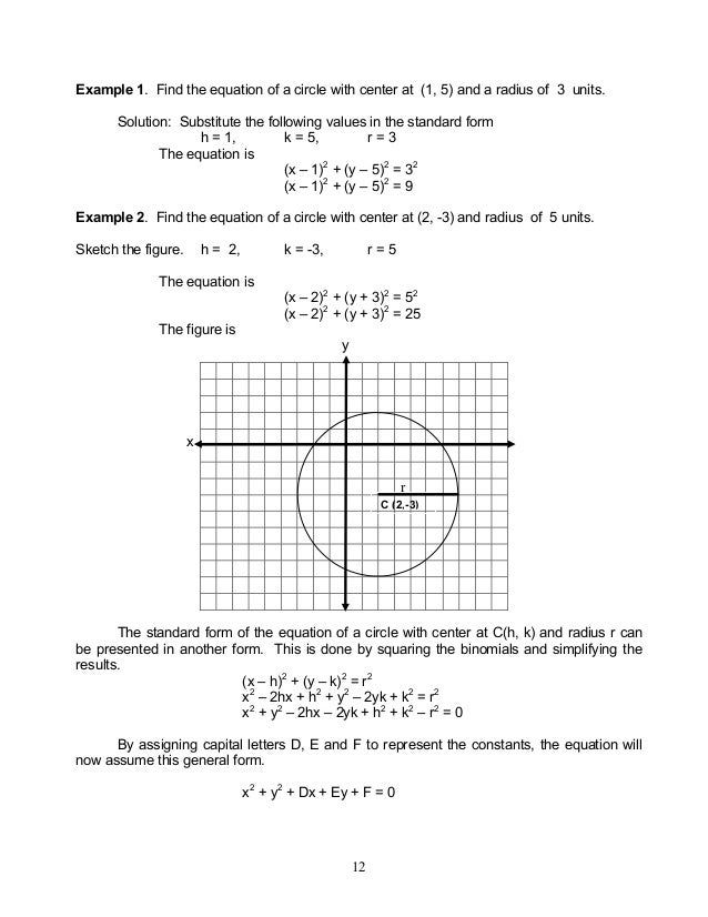 Module 3 Plane Coordinate Geometry