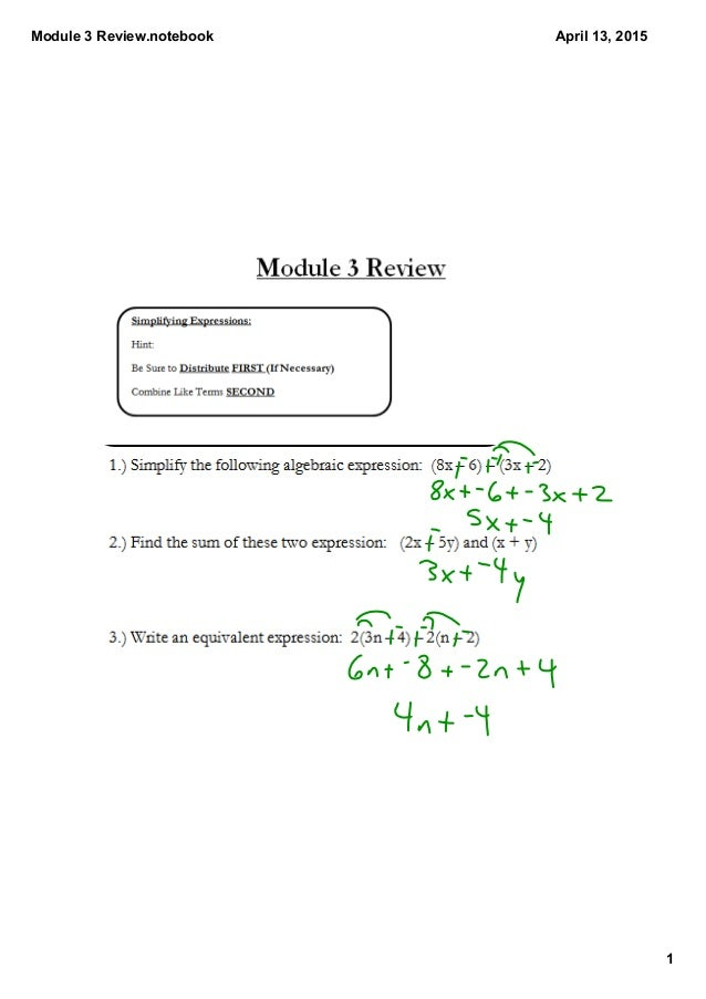 mod 3 review questions In this 43-day module, students use place value understanding and visual  representations to solve multiplication and division problems with.