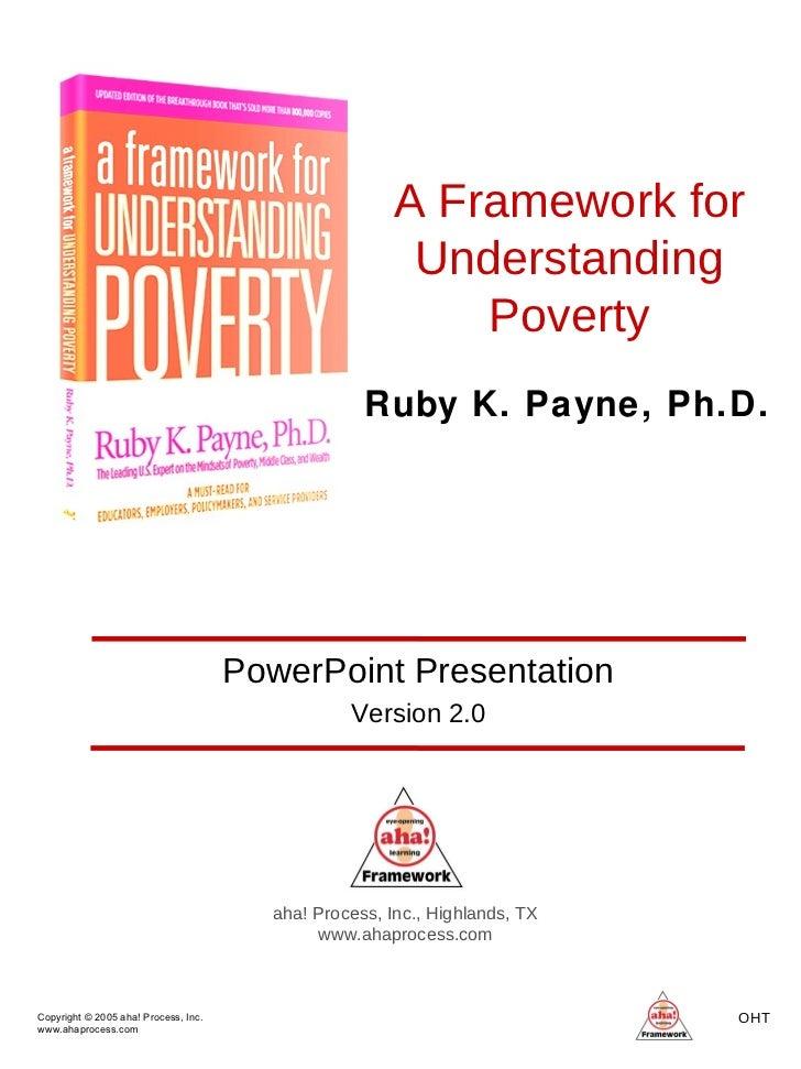 Copyright © 2005 aha! Process, Inc. www.ahaprocess.com OHT  A Framework for Understanding Poverty aha! Process, Inc., High...