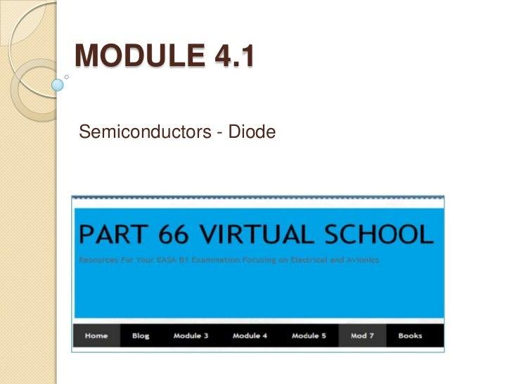 MODULE 4.1Semiconductors - Diode
