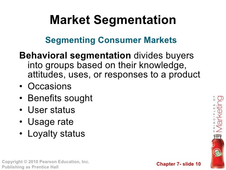 propose segmentation criteria to be used for products in different markets This segmentation consists of dividing customers by how much of the product is used or consumed describe family life cycle segmentation and understand different ways to market to market segmentation: geographic, demographic, psychographic & more related study materials related.