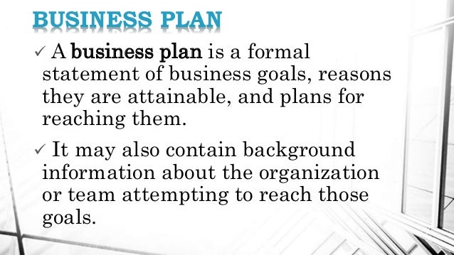 kinds of business plan