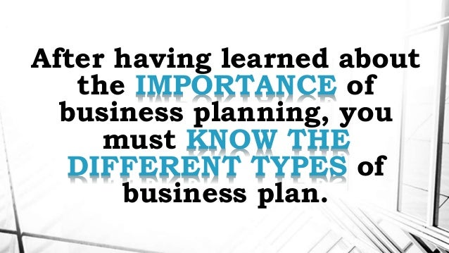 any type of business plan