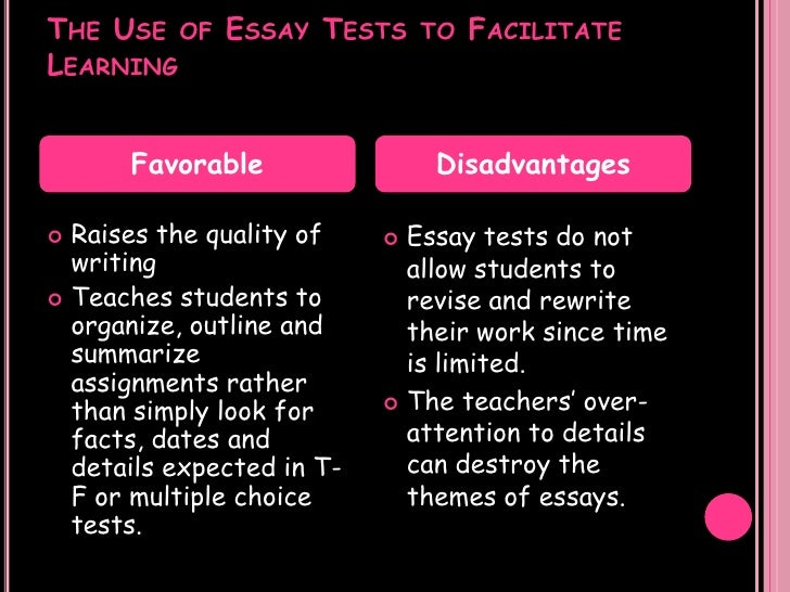 an essay examination is to recall as a multiple-choice test is to Do essay and multiple-choice questions measure the same [multiple-choice and essay] given the higher reliability and lower cost of a multiple-choice test.