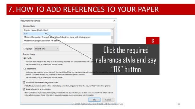 Writing research papers made easy using Zotero