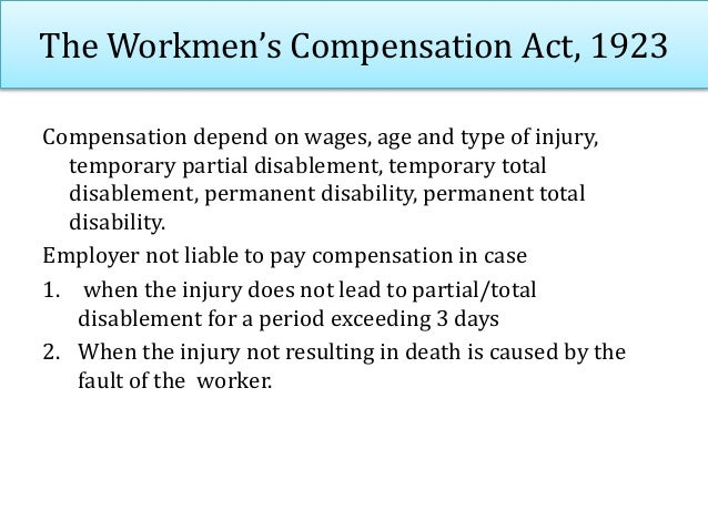 The Employees State Insurance Act,1948 • It provides medical help and unemployment insurance to industrial workers during ...