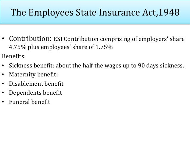 The Maternity Benefits Act,1961 Provides for payment of maternity benefit to women workers on certain conditions Coverage:...