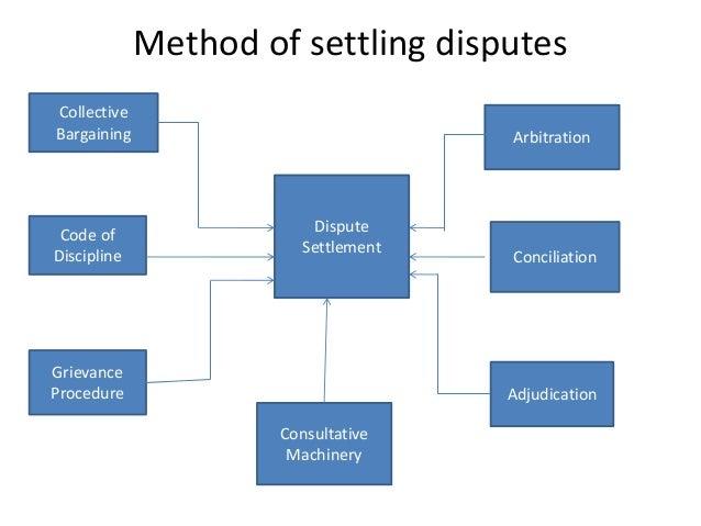 Method of settling disputes Collective Bargaining Code of Discipline Grievance Procedure Dispute Settlement Consultative M...
