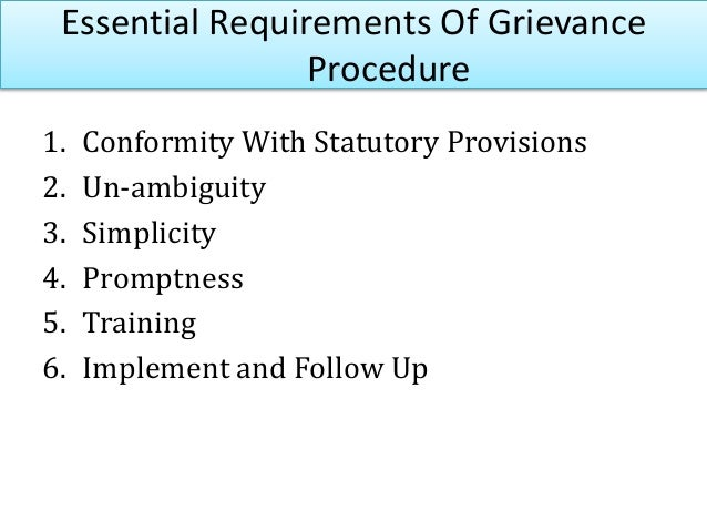 Identifying grievances Define correctly Collect data Analyse and solve Prompt redressal Implement and follow up Steps in G...