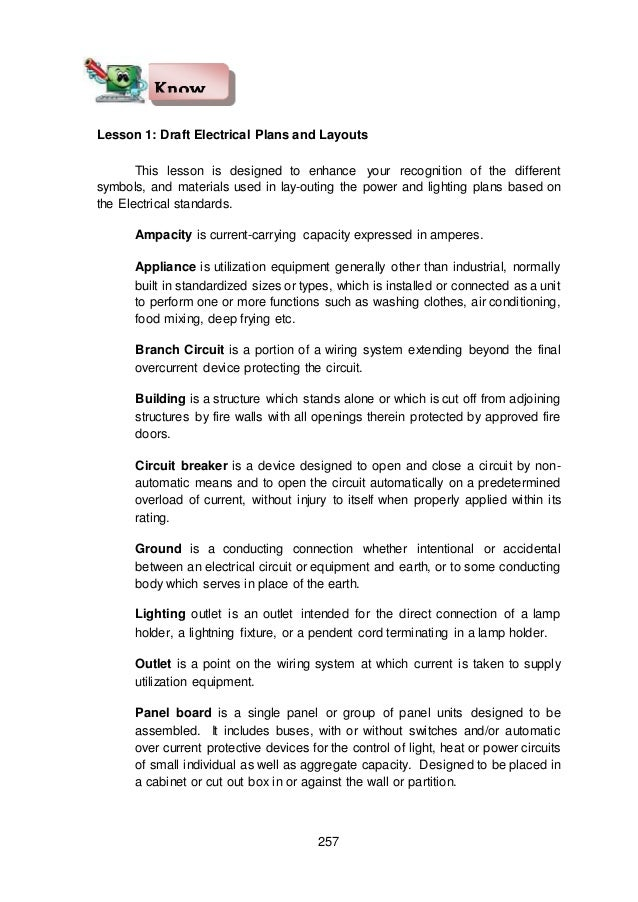 Module 5 module 3 draft electrical and electronic layout and details – Lesson Plans For House Wiring