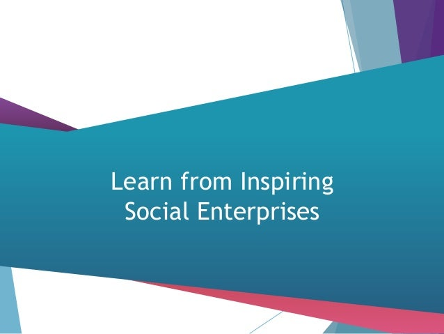 the integral role of social enterprises Although most social enterprises are small, and many are 4 social enterprise and social innovation: public policy to shape the role of social enterprise in social innovation would have to work on the overlaps and relations.