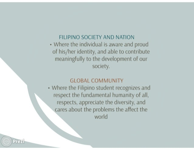 """g};  A Alp?  .' j.  , -:  .éI  *3} IL"""" ,9)  FILIPINO SOCIETY AND NATION - Where the individual is aware and proud of his/ ..."""