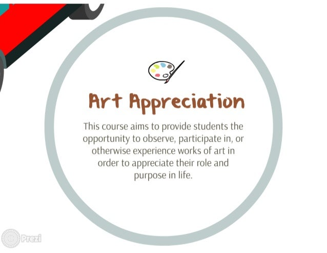 Firt Flppreciation  This course aims to provide students the opportunity to observe,  participate in,  or otherwise experi...