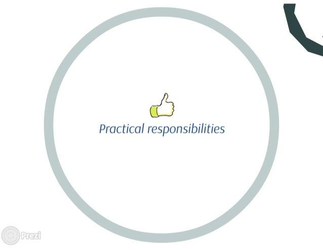 "ct"")  Practical responsibilities"