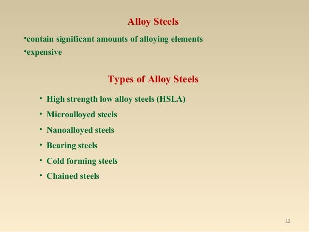 Steels And Special Alloys