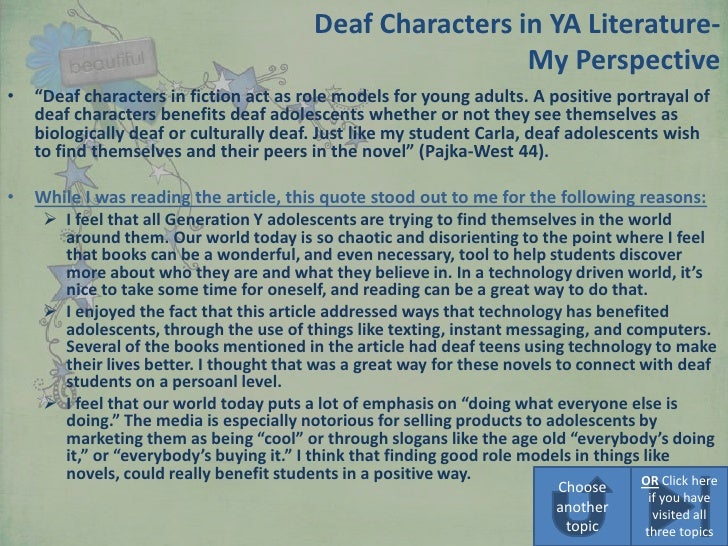 role models in young adult literature essay · harpercollins dressed five of its male young adult authors in blue male role models contribution to young adult literature.
