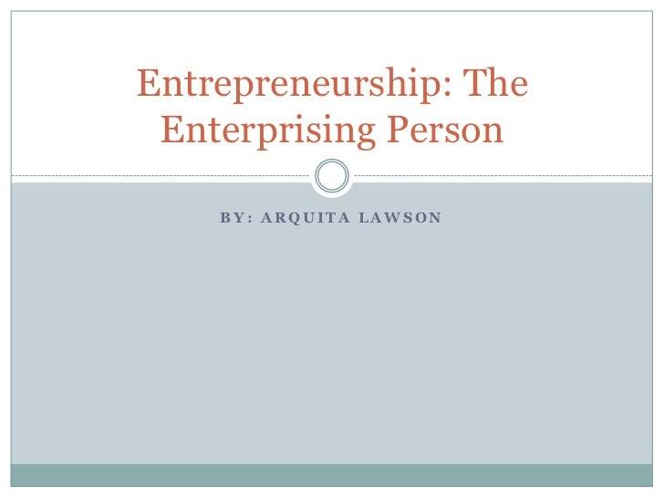 who is an enterprising person