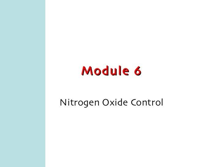 Module 6 Nitrogen Oxide Control