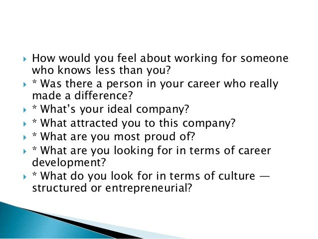 what are you looking for in terms of career development