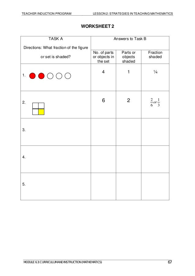 Module 63 mathematics – Graphic Sources Worksheets