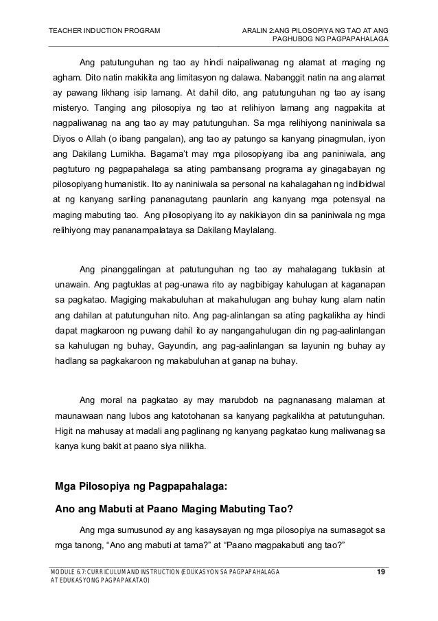 essay tungkol sa edukasyon sa pagpapakatao gabay sa paglubog ng makataong lipunan