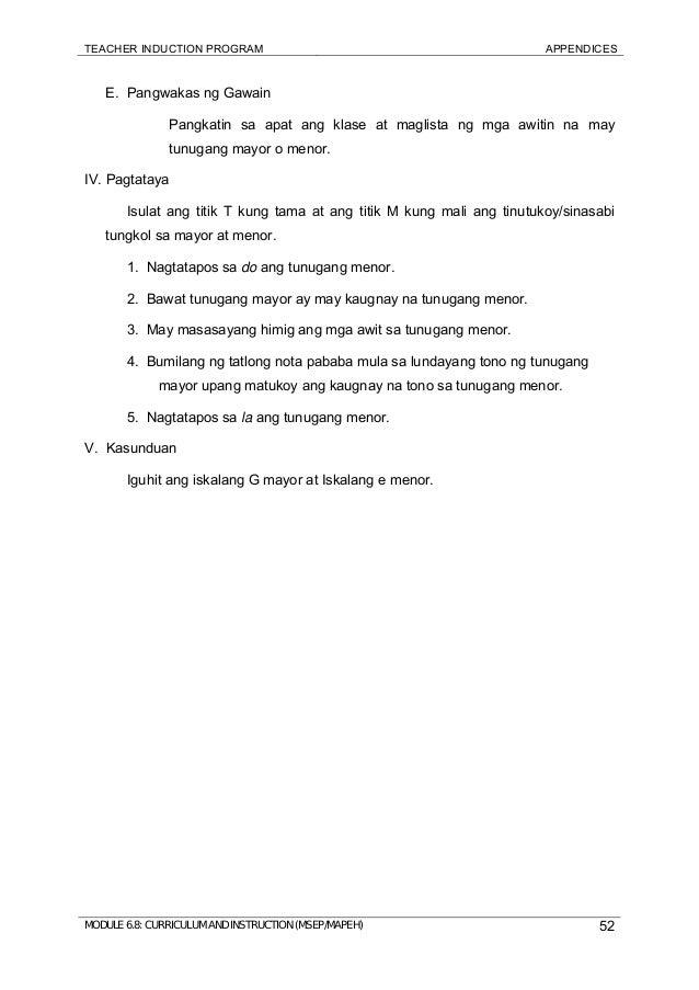Module 6 Mapeh