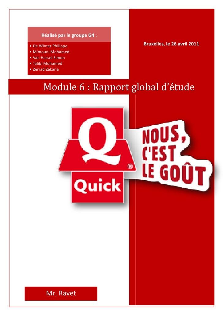 Réalisé par le groupe G4 :• De Winter Philippe               Bruxelles, le 26 avril 2011• Mimouni Mohamed• Van Hassel Simo...
